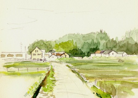 大池緑地公園 F3 水彩画