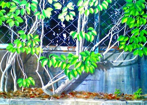 「夏の日」 水彩 サイズ P30