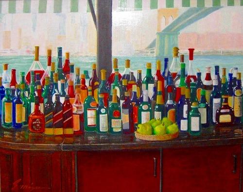 「リバーカフェ」 油彩 サイズ F100号