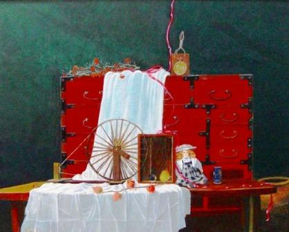 「人形の家」 油彩画 サイズ F100号